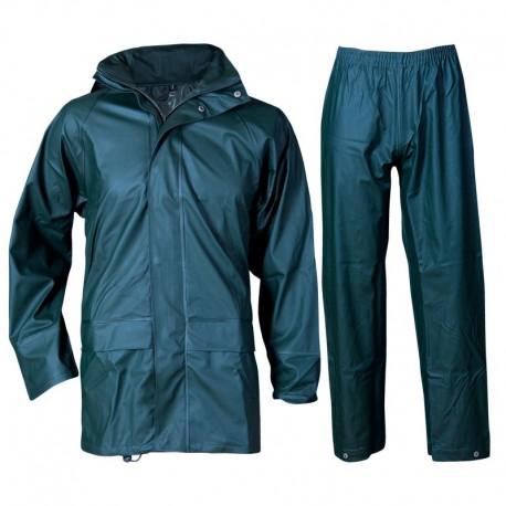Costum de protecție împotriva ploii, din două piese, poliester/poliuretan, Stormer