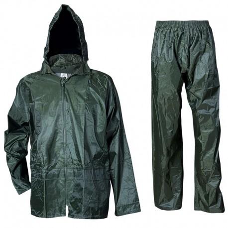 Costum de protecție împotriva ploii, din două piese, PVC/nailon, Carina