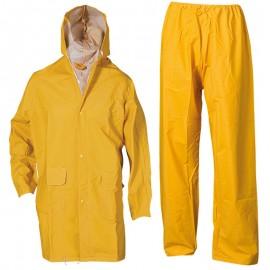 Costum de protecție împotriva ploii, din două piese, poliester/PVC, Hydra
