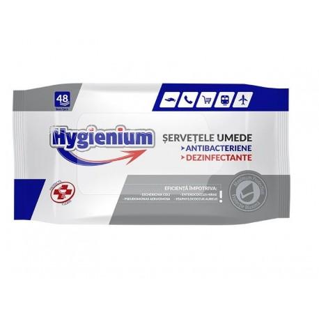 Șervețele umede antibacteriene & dezinfectante Hygienium - set 48 buc