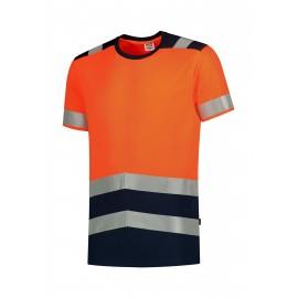 Tricou reflectorizant unisex, poliester 100%, 180 g/mp, Bicolor