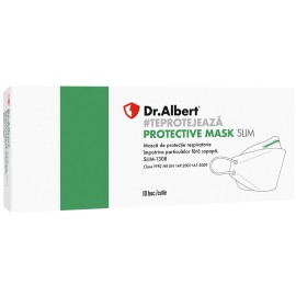 Semimască FFP2 - Dr.Albert Protective Mask Slim - set. 10 buc
