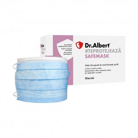 Dr.Albert - Masca chirurgicala, tip IIR, rezistență la stropire, set 50 buc
