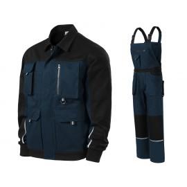 Costum de lucru pentru bărbați, cu elemente reflectorizante, bumbac 100%, Woody