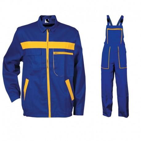 Costum salopetă cu pieptar L4 din bumbac: jachetă + pantaloni
