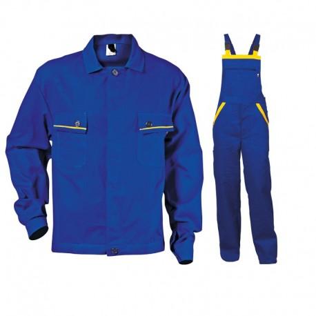 Costum de vară din bumbac, jachetă și pantaloni cu pieptar, L2