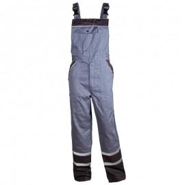 Pantaloni cu pieptar de vară, cu dungi reflectorizante, 240 g/mp, Collins Grey