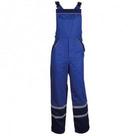 Pantaloni cu pieptar de vară, cu dungi reflectorizante, 240 g/mp, Collins Blue