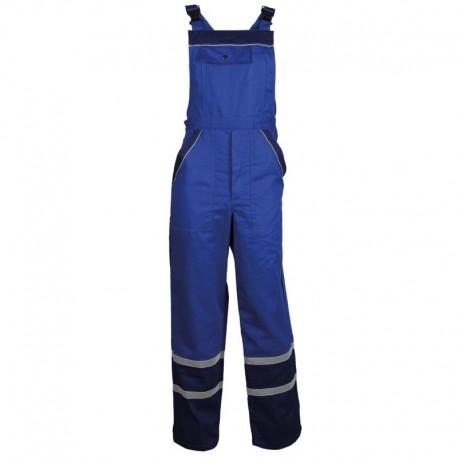 Pantaloni cu pieptar de vară, detalii reflectorizante, 240 g/mp, Collins Blue