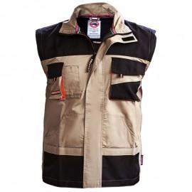 Jachetă de lucru 2 în 1, mâneci detașabile, 100% bumbac, 185 g/mp, Summer Emerton