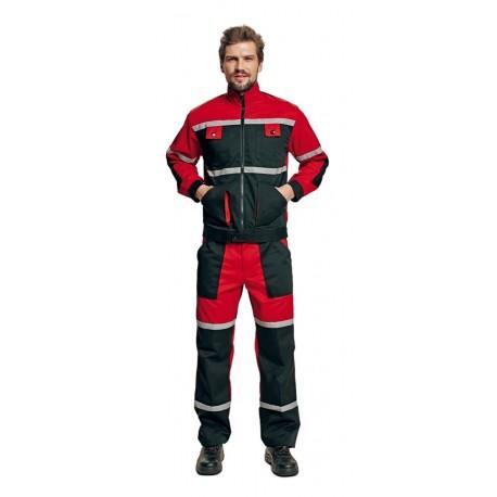 Costum de lucru: jachetă și pantaloni cu pieptar, din tercot, Tayra