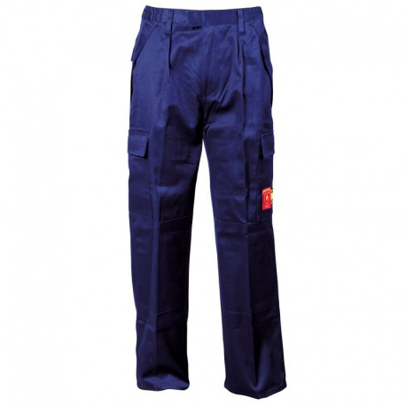 Pantaloni de lucru antistatici, ignifugi, 100% bumbac, 345 g/mp, Coen