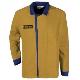 Jachetă de lucru pentru sudură, din bumbac și piele naturală, 240 g/mp, Zava Pro