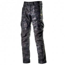 Pantaloni de lucru cu imprimeu camuflaj, țesătură ripstop, Diadora Cargo Camo