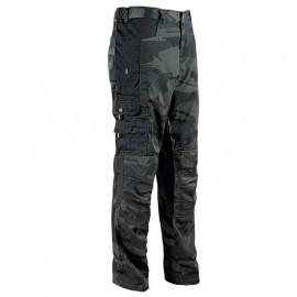 Pantaloni de lucru cu imprimeu camuflaj, din tercot, 190 g/mp, Kamo