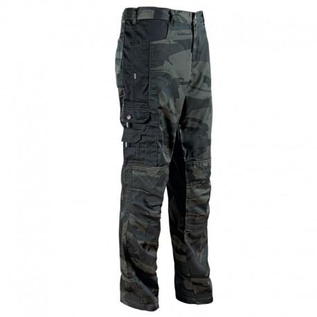 Pantaloni de lucru în stil camuflaj, din tercot, 190 g/mp, Kamo