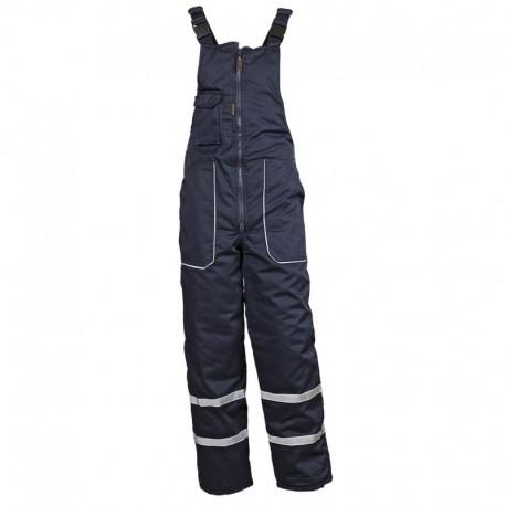 Pantaloni cu pieptar de lucru, pentru iarnă, 240 g/mp, Collins Bibpants