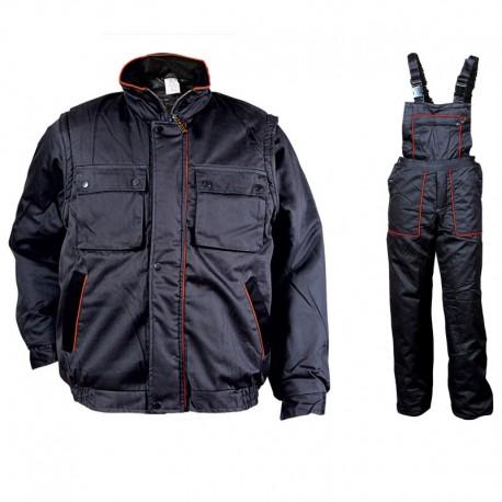 Costum de lucru pentru iarnă, mâneci detașabile, 100% bumbac, Dexter