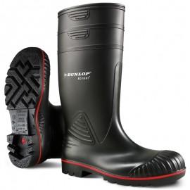 Cizme de protecție chimică cu bombeu metalic, Dunlop Acifort S5 SRA