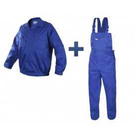 Costum salopetă cu pieptar Comfort din tercot: jachetă + pantaloni