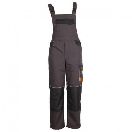 Pantaloni cu pieptar de lucru pentru iarnă, din tercot, 260 g/mp, Emerton