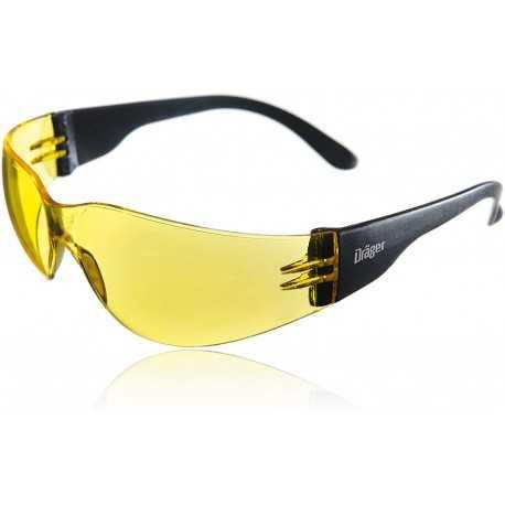 Ochelari de protecție Dräger X-pect 8312, cu brațe laterale, lentilă galbenă