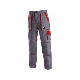 Pantaloni de lucru JOSEF bumbac 100%, roșu & gri