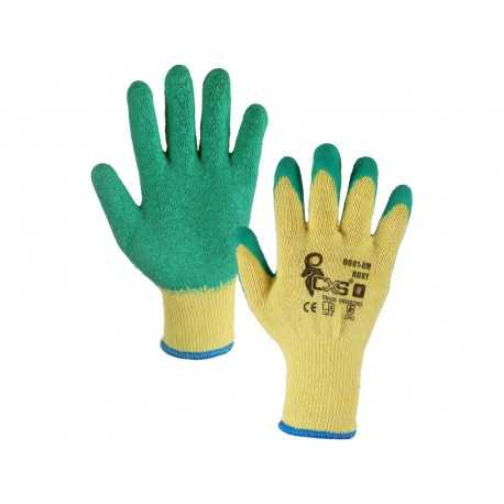 Mănuși de lucru din poliester, imersate cu latex ROXY, 0001-8X