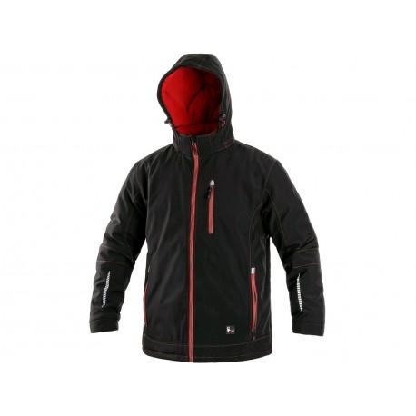 Jachetă de iarnă bărbați din softshell cu gluga detașabilă, Kingston