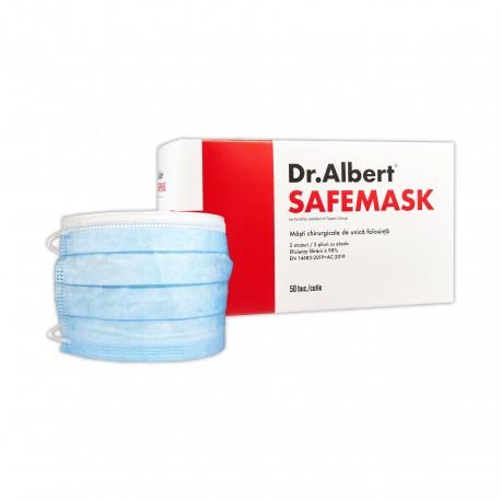 Mască chirurgicală, 3 straturi, 3 pliuri de protectie