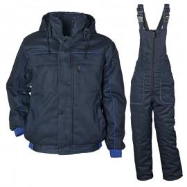 Costum de lucru vătuit, pentru iarnă, cu glugă, Zeta 5