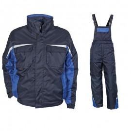 Costum de lucru vătuit pentru iarnă, Kastor Blue