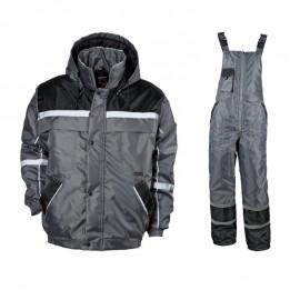 Costum de lucru impermeabil pentru iarnă, Collins Grey