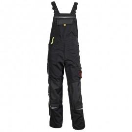 Pantaloni cu pieptar, cu buzunare multifuncționale, 270 g/mp, Prisma Bib